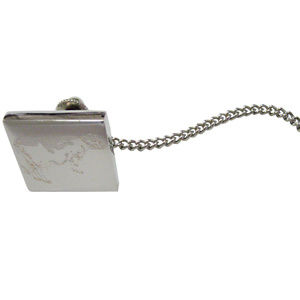 Silver Toned Etched Farm Cow Tie Tack
